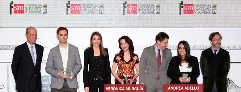 Verónica Murguía y Andrea Abello Premios SM de Literatura Infantil y Juvenil