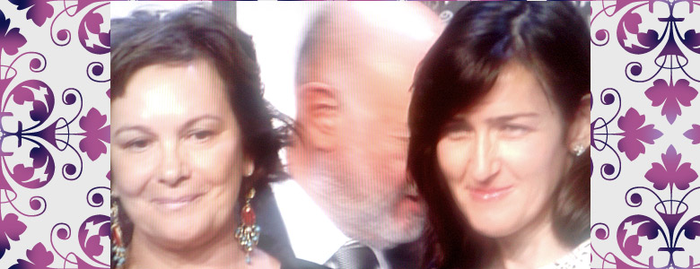 Clara Sánchez y Ángeles González-Sinde Premios Planeta 2013