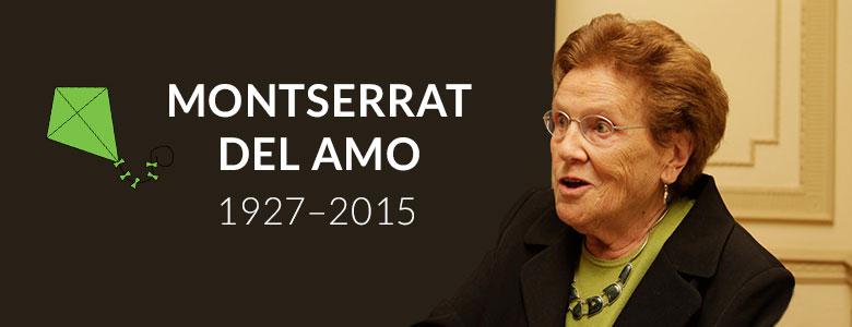 Falleció Montserrat del Amo