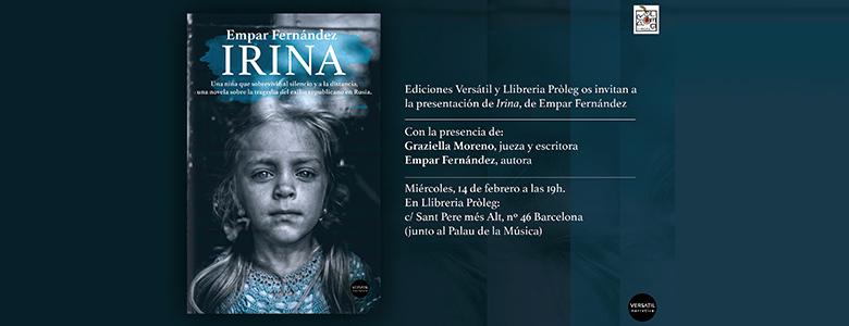 Presentación de Irina, de Empar Fernández